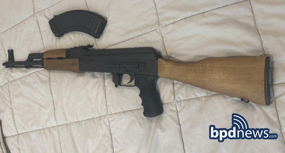 AK-47 seized by BPD 2-21-2021